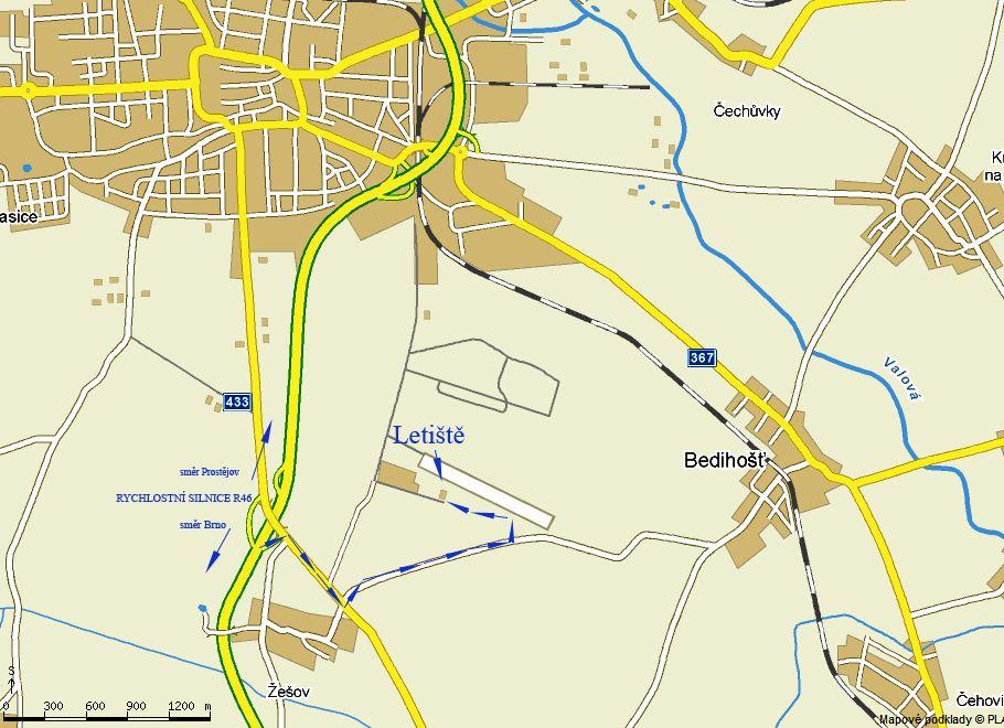 mapka Prostějov
