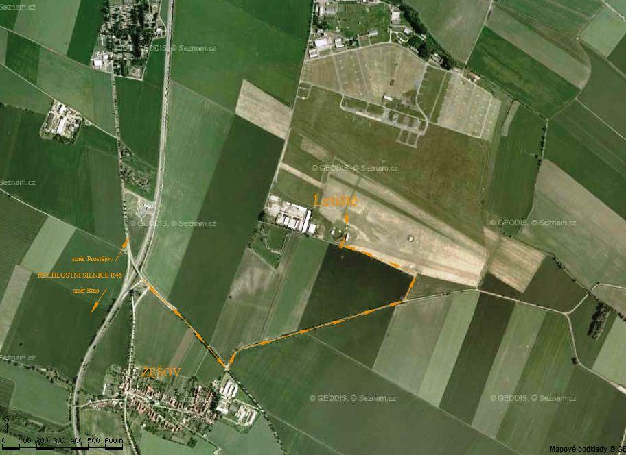 Prostejov Letiste Mapa